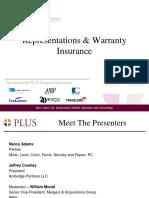 Representation and Warranties