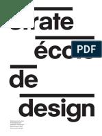 Strate Ecole de Design Brochure