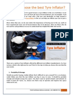 How to choose the best Tyre Inflator?