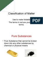 Classification of Matter 2012-0