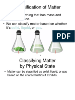 Classification of Matter and Changes
