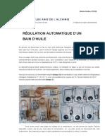 Régulation Automatique d'Un Bain d'Huile _ Alchimie Pratique