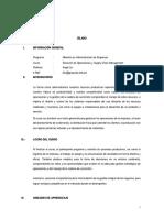 Sílabo Direccion de Operaciones y SCHM MBA 2018