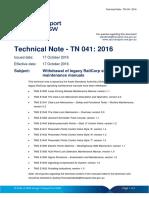 Technical Note - TN 041