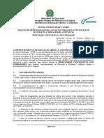Edital Interno SEAD Nº 11.2019 - Seleção de Profissionais Para Atuar No Curso de Licenciatura Em Matemática EaD