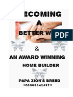 Becoming a Better Wife and an Award Winning Home Builder by Papa Zion's Breed