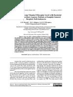 Correlation of Serum Vitamin D Receptor Level With