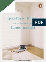 Goodbye Things  - Fumio Sasaki
