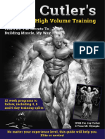 Jay Cutler's high volume training