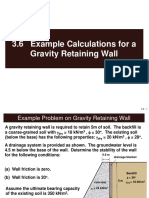 3.6 Example Calculations for a Gravity Retaining Wall