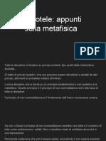 Aristotele_ Appunti Sulla Metafisica