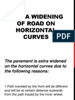 Extra Widening of Road on Horizontal Curves