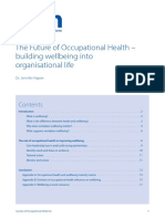The Future of OH Building Wellbeing Into Organisational Life