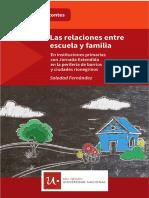 Las relaciones entre escuela y familia en instituciones con jornada extendida