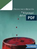 El Porqué Del Color Rojo - Francisco Bescos