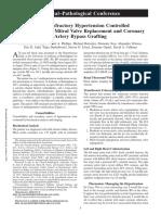 Resistant hypertention in valvular heart disease