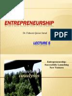 _Lect5 Entrepreneurship - Feasability-1
