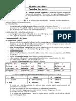 D5 Prendre Des Notes Fiche de Méthodologie Mars Avril 2012 (1)