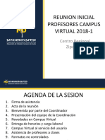 Reunion Inicial Profesores Campus Virtual 2018-1