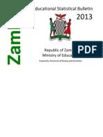 2013 Educational Statistical Bulletin