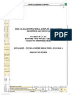 datasheet for potable water tank