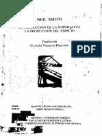 Neil Smith - La Producción de La Naturaleza La Producción Del Espacio