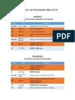 Calendário de Atividades AMa 2019-1