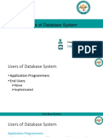 01 Users of Database System Lecture