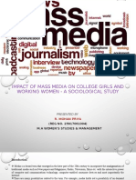 impact of mass media on college going girls and working women - a sociological study