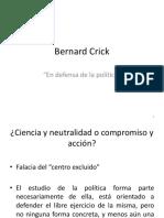 Crick en defensa de la política