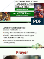 Types of Media and Media Convergence
