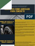 Neumático como agregado paa el concreto