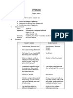 APPETIZERS Detailed Lesson Plan