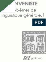 Benveniste É. - Problèmes de Linguistique Générale. Tome 1