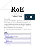Rules of Engagement 40k