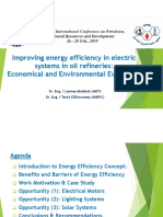 Improving Energy Efficiency in Electric Systems in Oil Refineries Economical and Environmental Evaluation