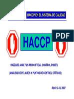Haccp - Presentación Congreso Icontec Puj Fernando Sandoval