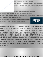 Clean and Sanitize Kitchen Premises
