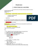 Biophysique - Structure de La Mat