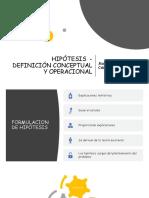 CLASE 8 HIPOTESIS Y DISEÑO DE INVESTIGACIÓN