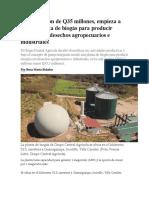 Biogas, Alternativa de Conservacion