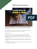 70 Razones Bíblicas Para Guardar El SÁBADO