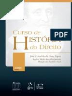 Curso de História Do Direito