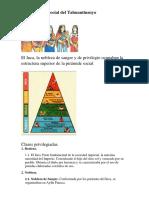 Organización Social y Actividades Del Tahuantinsuyo