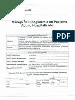 Manejo de hipoglucemia paciente hospitalizado