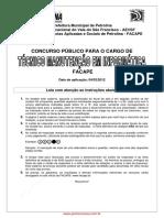 Prova Tecnico Manut Info Facape