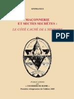 Epiphanius - Maçonnerie Et Sectes Secrètes