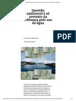 Questão ambiental é só pretexto da cobrança pelo uso da água - Carta Maior.pdf
