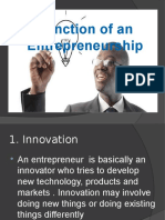 Functions of Entrepreneur