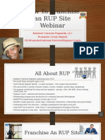 How to Franchise an RUP Site Webinar